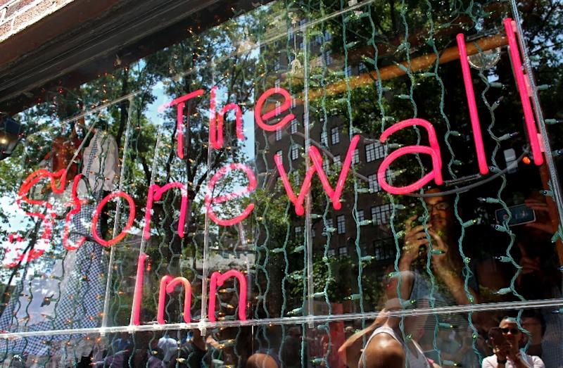 The Stonewall Inn, a gay bar in New York, was the scene of a week of unrest in 1969 that ultimately galvanized the modern gay rights movement (AFP Photo/Yana Paskova)