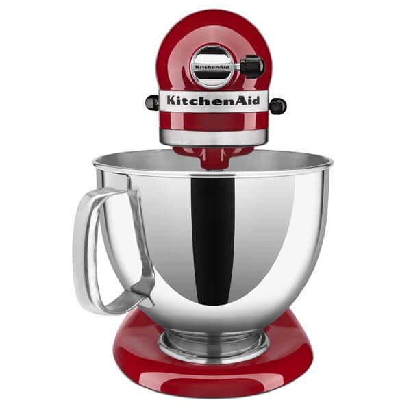 """<p><strong>KitchenAid</strong></p><p>wayfair.com</p><p><strong>$379.99</strong></p><p><a href=""""https://go.redirectingat.com?id=74968X1596630&url=https%3A%2F%2Fwww.wayfair.com%2Fkitchen-tabletop%2Fpdp%2Fkitchenaid-artisan-series-10-speed-5-quart-tilt-head-stand-mixer-ksm150-includes-dough-hook-other-accessories-w002904293.html&sref=https%3A%2F%2Fwww.delish.com%2Ffood-news%2Fg32450157%2Fwayfair-appliance-sale-may-2020%2F"""" rel=""""nofollow noopener"""" target=""""_blank"""" data-ylk=""""slk:BUY NOW"""" class=""""link rapid-noclick-resp"""">BUY NOW</a></p><p>Speaking of band wagons...we stand by the praise the cult-favorite KitchenAid mixer gets. It can do it all.</p>"""