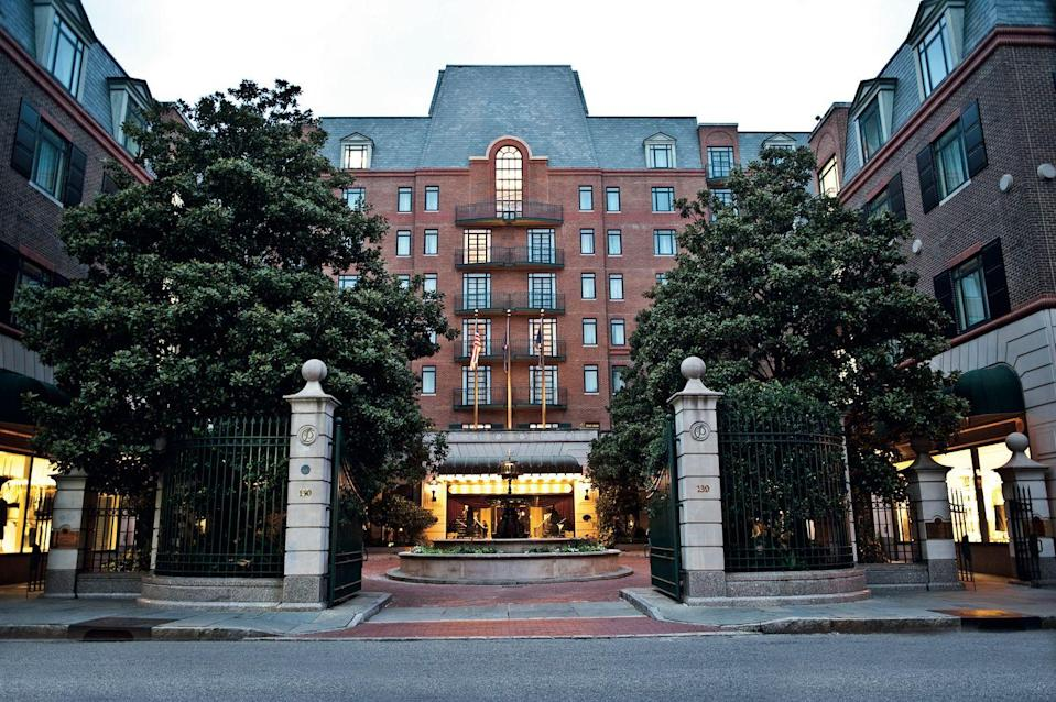 """<p>With a downtown location and all the amenities of an exclusive resort, <a href=""""https://www.belmond.com/hotels/north-america/usa/sc/charleston/belmond-charleston-place/"""" rel=""""nofollow noopener"""" target=""""_blank"""" data-ylk=""""slk:Charleston Place, A Belmond Hotel"""" class=""""link rapid-noclick-resp"""">Charleston Place, A Belmond Hotel</a> is a lovely place to land on your next venture to """"The Holy City."""" Southern gentility and European Old World charm are a perfect blend to make for a luxurious and memorable stay here in this cultural hub of the Southeast. </p><p>A rooftop saltwater pool, award-winning dining, an indulgent spa, and well-appointed rooms and suites are just the beginning. The property offers a variety of unique exclusive experiences just for guests to get the most out of their visit to Charleston, from private, guided workouts through the historic district to gourmet picnics, and specially curated itineraries for an unforgettable stay.</p>"""