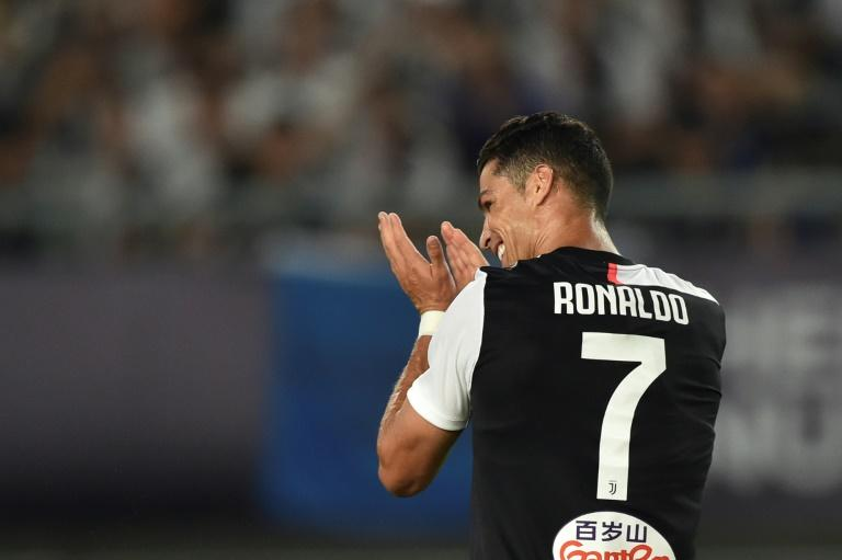 Juventus star Cristiano Ronaldo during the team's summer tour in China
