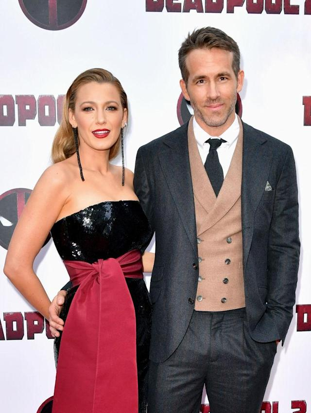 "Blake Lively and Ryan Reynolds attend the ""Deadpool 2"" premiere in New York City. (Photo: Michael Loccisano/Getty Images)"