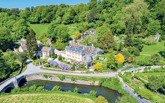 Sky high: An aerial view of Iford Manor's grounds - Simon Knight