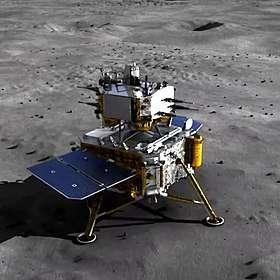 Artist's impression of the Chang & # x002019; e 5 probe on lunar soil.  & # xa9;  China News Service, Wikimedia Commons, CC by 3.0