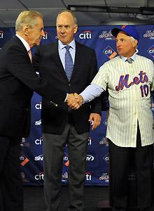 Mets owner Fred Wilpon (left) is counting on new GM Sandy Alderson and manager Terry Collins to turn the team around