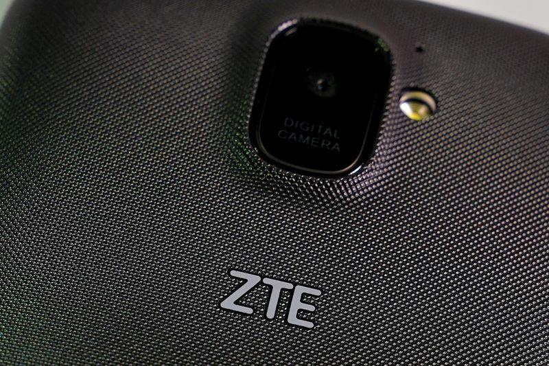 FILE PHOTO: A ZTE smart phone is pictured in this illustration