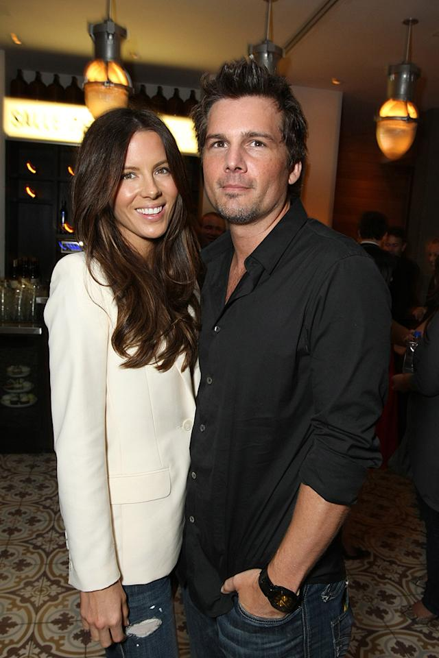 """<a href=""""http://movies.yahoo.com/movie/contributor/1800020790"""">Kate Beckinsale</a> and <a href=""""http://movies.yahoo.com/movie/contributor/1808458111"""">Len Wiseman</a> at the Los Angeles premiere of <a href=""""http://movies.yahoo.com/movie/1809955918/info"""">Eagle Eye</a> - 09/16/2008"""