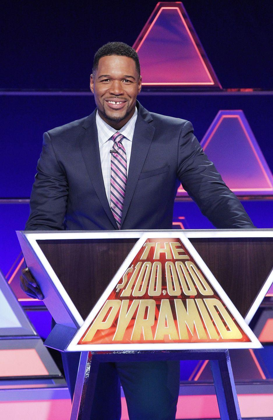 <p>In 2016, Pyramid was revived with a $100,00o prize as part of ABC's game show lineup. Michael Strahan has been hosting the show, which was renewed for a fifth season. Before <em>Pyramid, </em>Strahan had a long career as a defensive end with the New York Giants. He was the co-host of <em>Live! With Kelly and Michael </em>for four years before joining <em>Good Morning America</em> and <em>Strahan, Sara & Keke. </em></p>