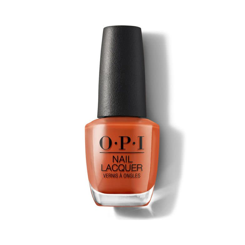 """<p>This copper-kissed shade of orange takes your summer coral and turns it into a fall-ready option.</p> <p><strong>BUY IT: $10.50; </strong><a href=""""https://ulta.7eer.net/c/249354/164999/3037?subId1=SL%2CRX_1909_OPINailColorsforFall2019_SuziNeedsaLoch-smith%2Ckyarborough1271%2C%2CIMA%2C637190%2C201909%2CI&u=https%3A%2F%2Fwww.ulta.com%2Fscotland-nail-lacquer-collection%3FproductId%3Dpimprod2008446"""" target=""""_blank"""">ulta.com</a></p>"""