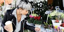 """<p>Hair dye used to be the go-to for <em>covering</em> grey hair, but now it can also be used to embrace it. Whether you're naturally grey and ready to rock it, or you're looking to go temporarily silver, we've found the right coloring products that'll give you the icy hue you crave.</p><p>We chatted with <a href=""""https://www.instagram.com/rachel_bodt/"""" rel=""""nofollow noopener"""" target=""""_blank"""" data-ylk=""""slk:celebrity colorist Rachel Bodt"""" class=""""link rapid-noclick-resp"""">celebrity colorist Rachel Bodt</a> to get her take on the best way to tackle grey hair color at home:</p><p><strong>Q: Do you think grey hair is trending right now?</strong></p><p><strong>A: </strong>Yes. I think there are so many variations of this too, from more of a white silver to a stone grey. It's becoming more of a staple.</p><p><strong>Q: Do you have any tips for women who want to transition to wearing their natural grey color?</strong><strong><br></strong></p><p><strong>A:</strong> The transition can be a challenge, but I always tell my clients to be patient and to know it will be worth it. There are a few ways you can do it, but it's usually a combination of highlights and lowlights to break the strong line. There's also a trick where you can change the part (of your hair) and apply color on the new part. When enough of the natural grey comes in, we change the part back to the original.<strong><br></strong></p><p><strong>Q: Are there any products you recommend for keeping silver hair looking bright?</strong></p><p><strong>A:</strong> I love Kristen Ess' <a href=""""https://www.target.com/p/kristin-ess-the-one-purple-shampoo-10-fl-oz/-/A-52567229"""" rel=""""nofollow noopener"""" target=""""_blank"""" data-ylk=""""slk:purple shampoo"""" class=""""link rapid-noclick-resp"""">purple shampoo</a> and <a href=""""https://www.target.com/p/kristin-ess-the-one-purple-conditioner-10-fl-oz/-/A-52567679"""" rel=""""nofollow noopener"""" target=""""_blank"""" data-ylk=""""slk:conditioner"""" class=""""link rapid-noclick-resp"""">conditioner</a>. If you want it ev"""