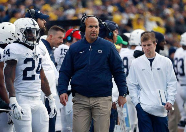 PHOTO: Penn State head coach James Franklin on the sidelines during a game in Ann Arbor, Mich., Nov. 3, 2018. (Paul Sancya/AP, FILE)