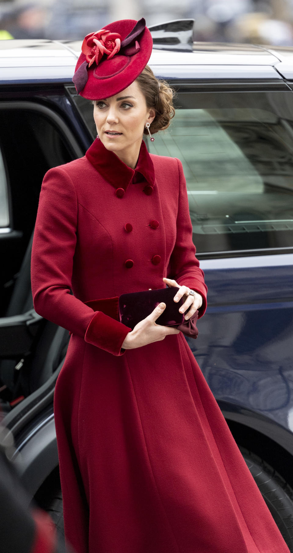 LONDON, ENGLAND - MARCH 09: Catherine, Duchess of Cambridge attends the Commonwealth Day Service 2020 at Westminster Abbey on March 9, 2020 in London, England. (Photo by Mark Cuthbert/UK Press via Getty Images)