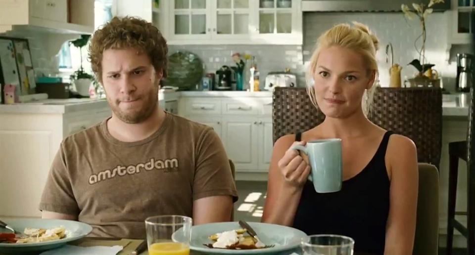 <p>Judd Apatow's comedy romance was a big hit back in the day, and it's interesting to see how Seth Rogen and Katherine Heigl's careers have gone in complete opposite paths. Credit: Universal. </p>
