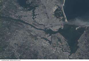 View of New York from space. Photo courtesy of NASA.
