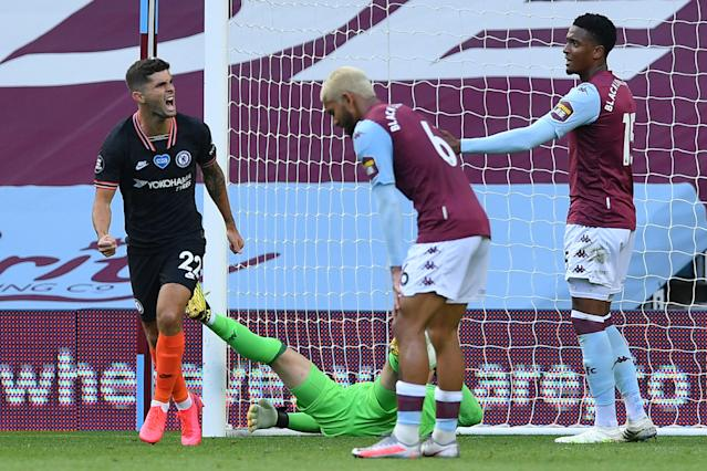U.S. midfielder Christian Pulisic scored the equalizer for Chelsea in Sunday's 2-1 win over Aston Villa. (Justin Tallis/Getty Images)