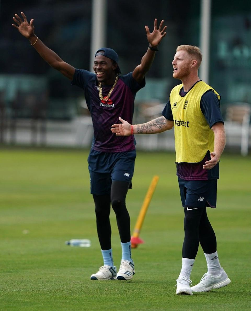 Jofra Archer (left) and Ben Stokes will be missing for England (Tess Derry/PA) (PA Archive)
