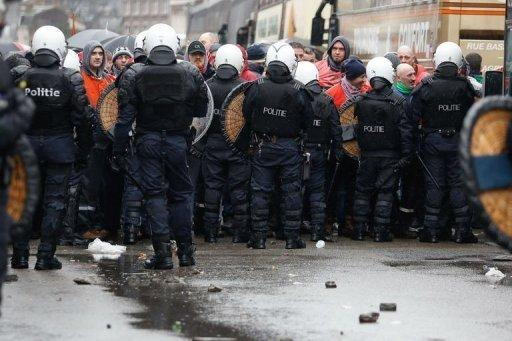 Belgian police, laid-off steelworkers in tense clashes