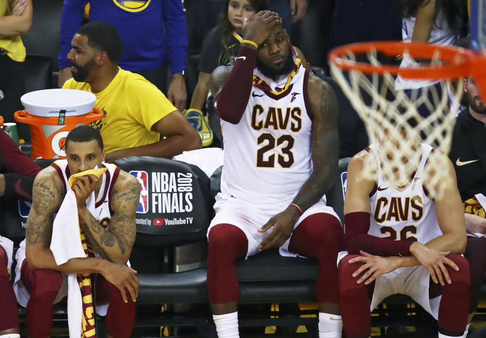 LeBron James thinks about what it's going to take. (AP)