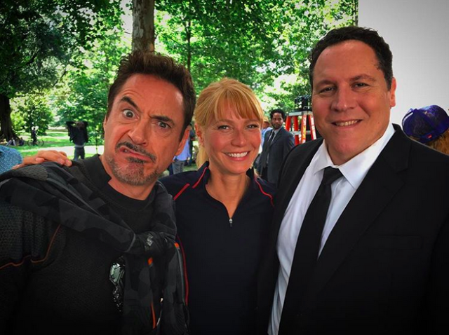 """<p>""""Infinity Trinity,"""" the <em>Iron Man </em>lead called this crew also starring Gwyneth Paltrow and Jon Favreau. The trio are currently working together on <a href=""""https://www.yahoo.com/movies/avengers-4-jon-favreau-teases-reunion-infinity-trinity-163711442.html"""" data-ylk=""""slk:Avengers: Infinity War;outcm:mb_qualified_link;_E:mb_qualified_link"""" class=""""link rapid-noclick-resp newsroom-embed-article""""><em>Avengers: Infinity War</em></a>, which is due out next year<em>.</em><br>(Photo: <a href=""""https://www.instagram.com/p/BYHgj6_D2Qz/?hl=en&taken-by=robertdowneyjr"""" rel=""""nofollow noopener"""" target=""""_blank"""" data-ylk=""""slk:Robert Downey Jr. via Instagram"""" class=""""link rapid-noclick-resp"""">Robert Downey Jr. via Instagram</a>) </p>"""