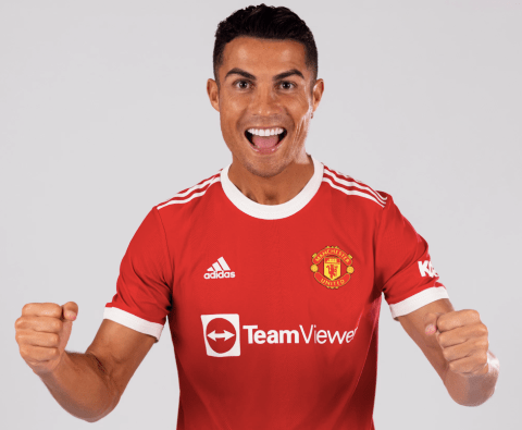 Cristiano Ronaldo pictured in Man Utd kit for the first time since his stunning return to the club