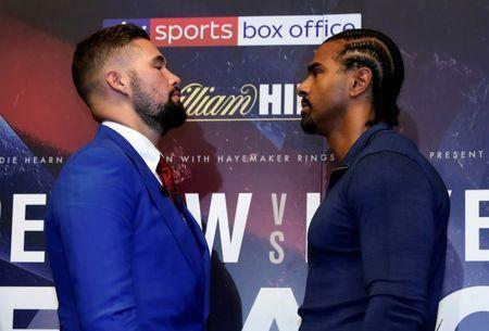 Boxing - Tony Bellew & David Haye Press Conference - London, Britain - October 4, 2017 Tony Bellew and David Haye go head to head after the press conference Action Images via Reuters/Andrew Couldridge