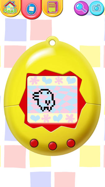 "This publicity photo released by Sync Beatz Entertainment shows the toy mode of the mobile app ""Tamagotchi L.i.f.e."" by developer/publisher Bandai America Inc./Sync Beatz Entertainment. The app duplicates the egg-shaped Tamagotchi toy that became a must-own sensation after it was first released in 1996 in Japan. (AP Photo/Bandai America Inc./Sync Beatz Entertainment)"