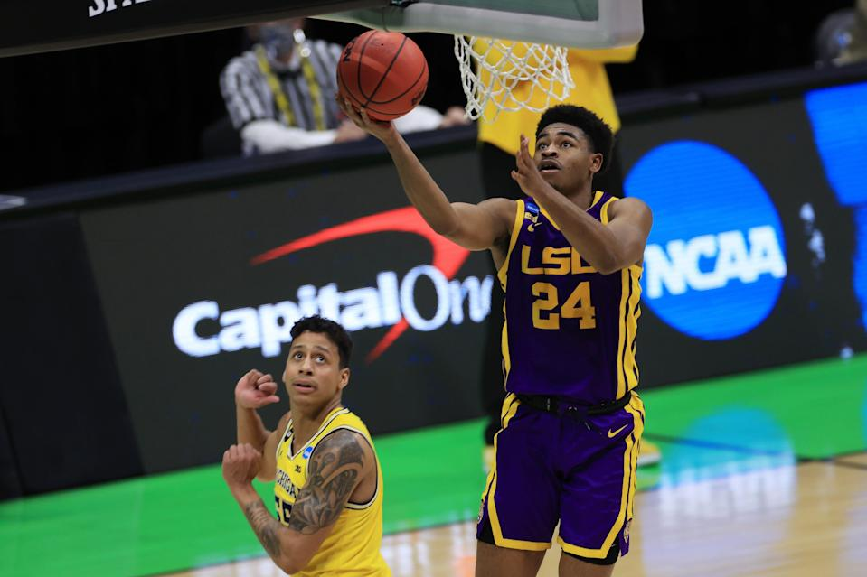 LSU guard Cameron Thomas (24) led all freshmen in the nation in scoring and finished with 22 20-point games, the most in the program's history since Shaquille O'Neal in 1992.