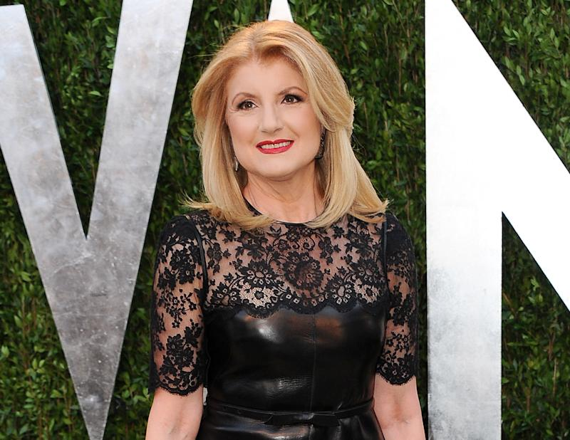 """FILE - This Feb. 24, 2013 file photo shows Arianna Huffington arrives at the 2013 Vanity Fair Oscars Viewing and After Partyl in West Hollywood, Calif. A lawsuit accuses Huffington Post founder Arianna Huffington of trashing a New York City loft that she leased from a documentary filmmaker. Huffington calls the allegations false. Filmmaker Eric Steel filed the suit in Manhattan Supreme Court on Monday, April 1. It asks for $275,000 in damages. The lawsuit says cabinets were broken and """"the walls of the apartment were gouged, stained and otherwise damaged"""" during the two years Huffington rented the apartment. (Photo by Jordan Strauss/Invision/AP, file)"""