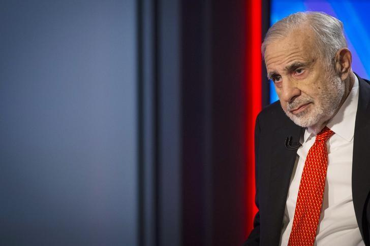 teBillionaire activist-investor Carl Icahn gives an interview on FOX Business Network's Neil Cavuto show in New York