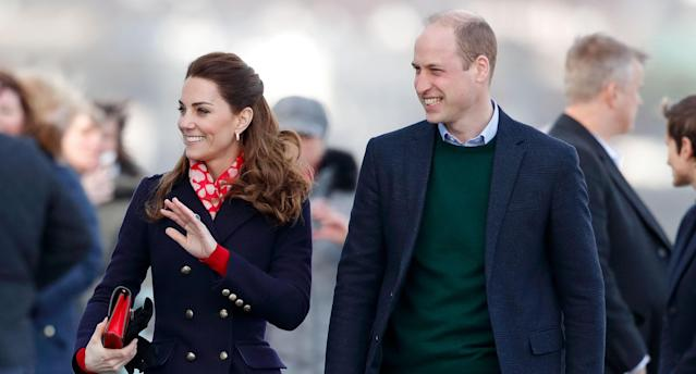 Prince William and Kate in South Wales earlier in February. (Getty Images)