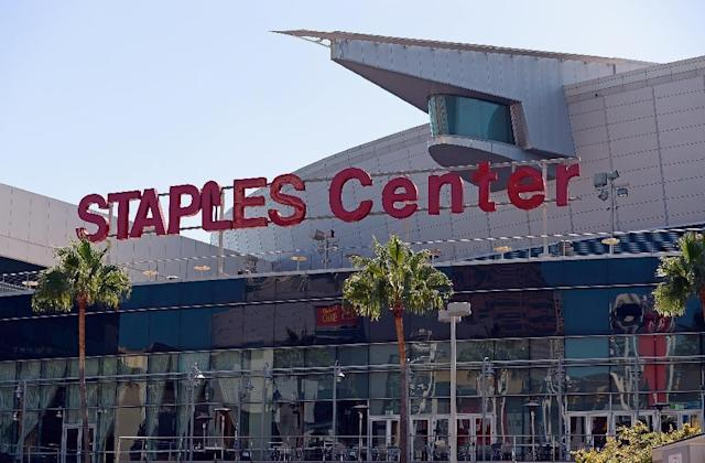 The Los Angeles Staples Center (pictured 2012) is best known as the home of the Los Angeles Lakers and Clippers NBA teams, and had been widely expected to stage the Wilder-Fury fight (AFP Photo/KEVORK DJANSEZIAN)