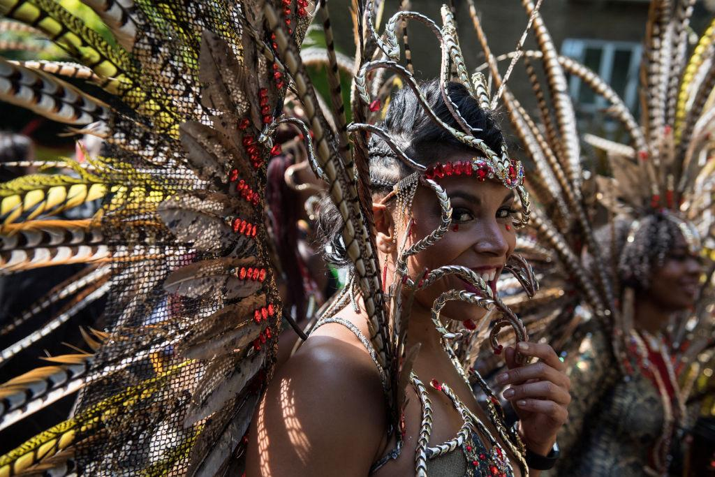 <p>A performer during the Notting Hill Carnival parade in London. The Notting Hill Carnival has taken place since 1966 and now has an attendance of over two million people. (Photo by Chris J Ratcliffe/Getty Images) </p>
