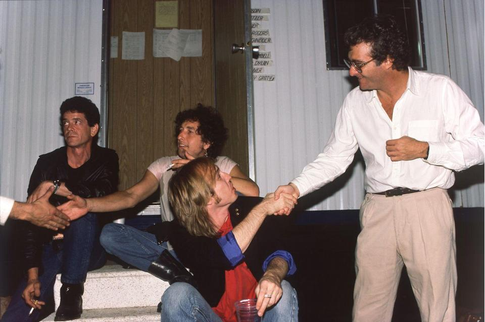 <p>Lou Reed, Bob Dylan, Tom Petty, and Randy Newman in Champaign, Illinois.</p>