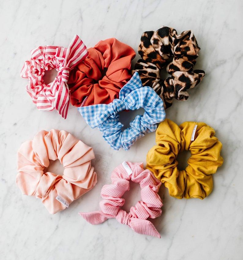 Allette and Co Jillian Harris x Etsy: Red&White striped Scrunchies