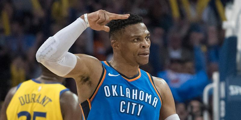 Russell Westbrook first to average triple-double in multiple seasons
