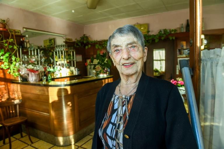 Marie-Louise Wirth, 100 years old and still running the bar her father left to her in 1954