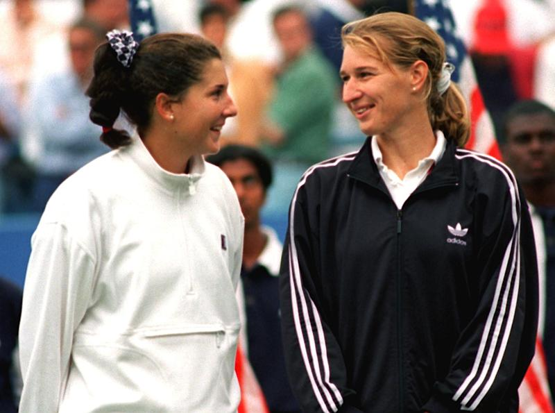 Monica Seles and Steffi Graf had the potential to be the Federer-Nadal of their day. (Rehder Carsten/Getty Images)