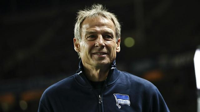 Hertha Berlin will not allow Jurgen Klinsmann to take up a prominent position on the board after his outspoken departure as coach.