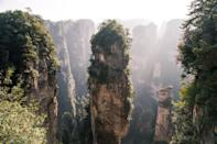 <p>This plush national forest is known for its unique geography and rock pillars that have formed as a result of physical erosion. </p>