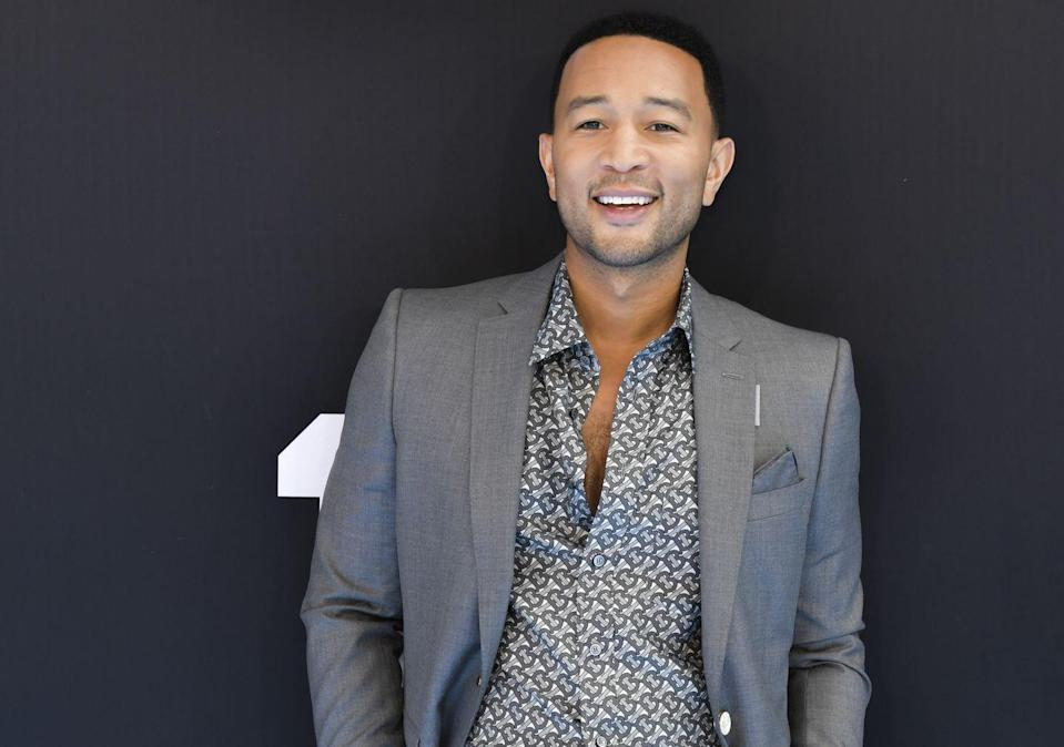 <p>For the 2019 BET Awards, Legend channeled a '70s star with a paisley button-up and chest hair galore.</p>