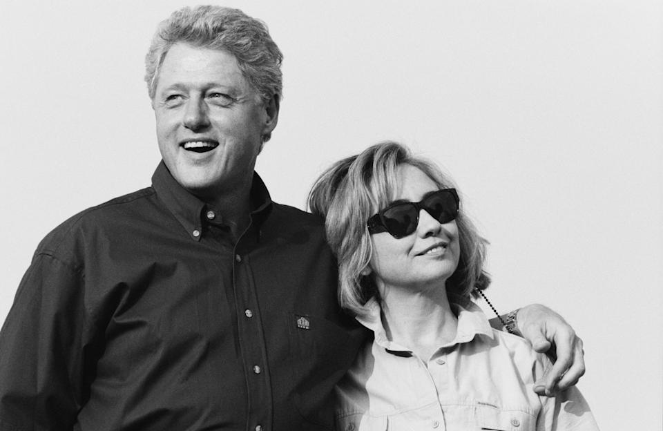 Bill and Hillary Clinton (pictured here in 1996) just celebrated their 44th wedding anniversary. (Photo: Getty Images)