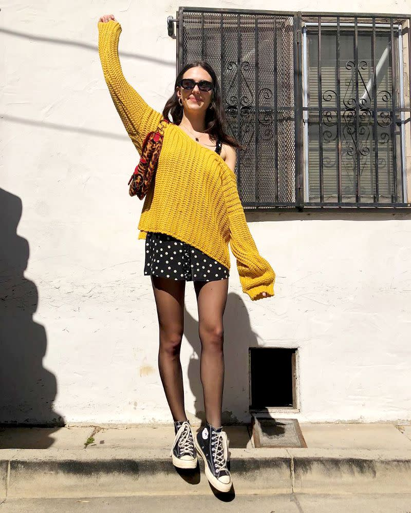Devon Carlson's casual outfit will inspire you to swap out your go-to pair for this new shape.