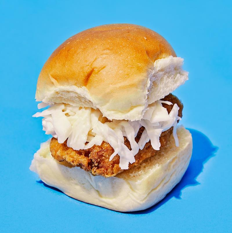 Fried chicken sandwiches are just better with King's Hawaiian rolls.