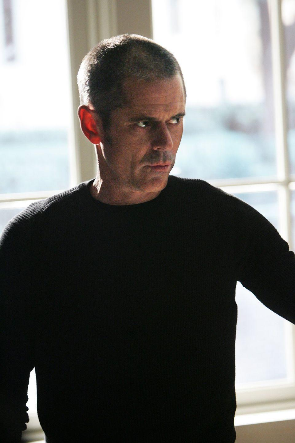 "<p>C Thomas Howell as George Foyet (a.k.a. The Reaper) toys with the BAU in season four before targeted Hotch's ex-wife and son in the season finale and beginning of season five. </p><p>""The Reaper, for me, that's one of the most important roles I've played,"" Thomas told the <a href=""https://film.avclub.com/c-thomas-howell-on-the-outsiders-blackface-and-how-m-1798236526"" rel=""nofollow noopener"" target=""_blank"" data-ylk=""slk:AV Club"" class=""link rapid-noclick-resp"">AV Club</a>. ""I hadn't played many bad guys, and I certainly hadn't played any bad guys <em>successfully</em> up until that point, but it was really an opportunity for me to discover what that note really meant. When I played the Reaper, I was really clear that I wasn't going to be playing a bad guy. And when you watch the performance in that show, I'm playing someone who's a good guy who's doing really bad things.""</p>"