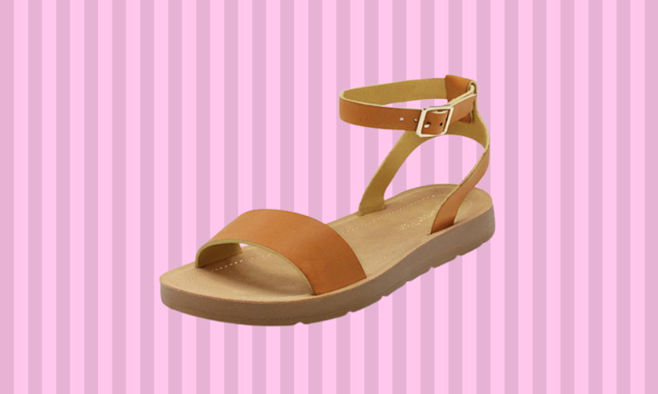 These comfy sandals are perfect with shorts and dresses. (Photo: Amazon)