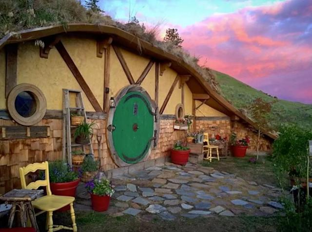 <p>If you're more of a book nerd, this Bag End-inspired home in Orondo, Wash., looks like it was imagined by J.R.R Tolkien himself. The abode, which was modelled after Bilbo Baggins' famous Hobbiton residence, can be reserved for $277 a night. </p>