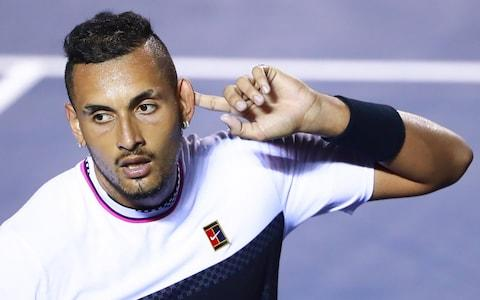 <span>Kyrgios gave a controversial interview last month in which he criticised Rafael Nadal and Novak Djokovic&nbsp;</span> <span>Credit: &nbsp;Getty Images&nbsp; </span>