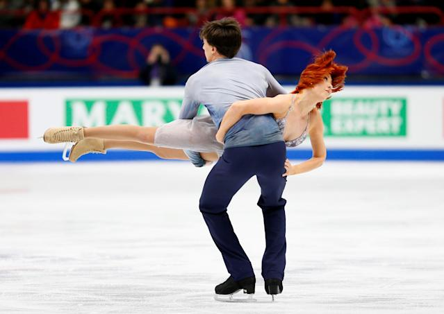 Figure Skating - World Figure Skating Championships - The Mediolanum Forum, Milan, Italy - March 24, 2018 Russia's Tiffani Zagorski and Jonathan Guerreiro during the Ice Dance Free Dance REUTERS/Alessandro Garofalo
