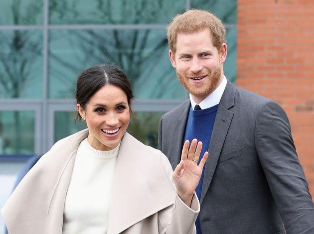 Prince Harry and Meghan Markle on one of their earlier royal appearances, visiting a science park in Belfast, Northern Ireland, on March 23, 2018.