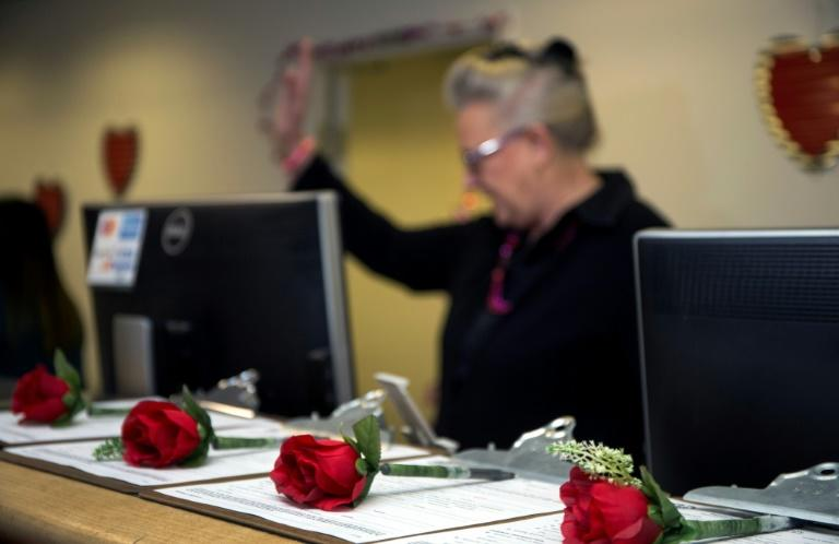 The temporary marriage license office at McCarran International Airport in Las Vegas helps marriages get off the ground in Valentine's season without all the fuss
