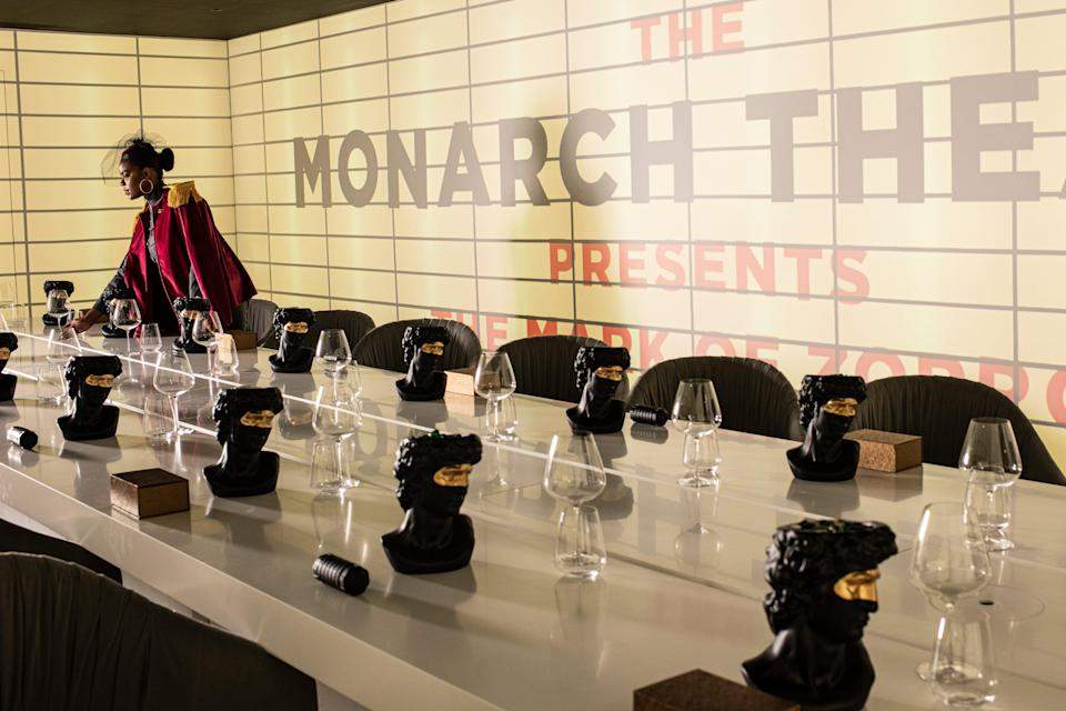 Immersive: the Monarch dining room takes its name from the theatre Bruce Wayne's parents were murdered outside (Daniel Hambury/Stella Pictures Ltd)